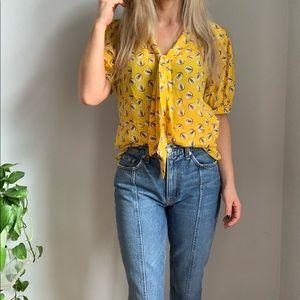 Anthropologie Girls from Savoy silk blouse top 10